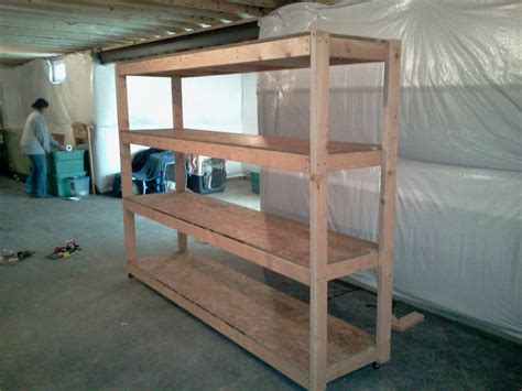 2x4 Basement Shelving Plans
